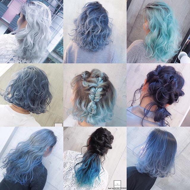 ブルーカラー集⭐️⭐️⭐️ 今年の夏はみんなが憧れるブルーカラーに挑戦もオススメです〜〜 担当 MORIYOSHI MORIYOSHIヘア、ヘアカラー集、スタイリング動画などはこちらから→ @moriyoshi0118 随時更新中です〜 #shachu#hair#color#ヘア#ヘアカラー#グラデーションカラー#ハイライト#ブルー