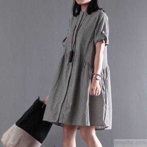 Cool Plus Size Summer Dresses  Black New cotton sundress plus size sundress casual loose summer dressesThis dre... Check more at http://24myshop.cf/fashion-style/plus-size-summer-dresses-black-new-cotton-sundress-plus-size-sundress-casual-loose-summer-dressesthis-dre/