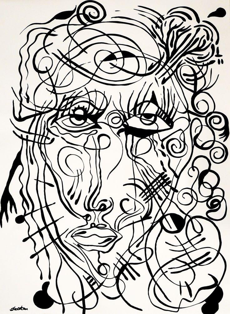 Rafal Michal Szaton, Biala Madonna (2014)  #painting #art #artmarket #limitededition #artistoftheday #fineart #buyart  #popart #polishart #pinmorales #black&white #madonna