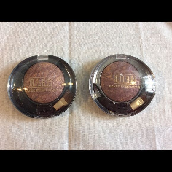 Price Drop! Milani Baked Eyeshadow Bundle New, Milani Baked Eyeshadows, Qty. 2, in Fusion. 0.05 oz each. No trades please. Milani Makeup Eyeshadow