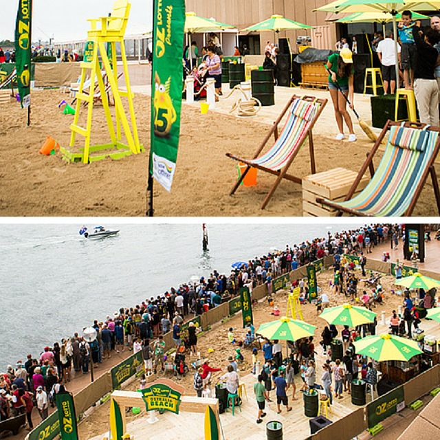 Would you ever expect a #beachparty at the Sydney Opera House? Our #brand #activation for Oz Lotto saw us recreating a beach at this iconic venue for last year's Australia Day.