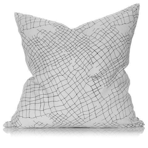 white net large linen cushion – PENNEY + BENNETT $149 with inner