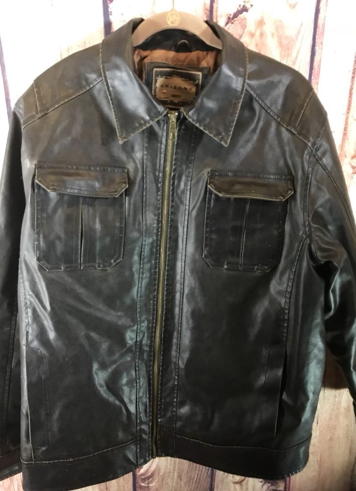 NWT! TOMMY HILFIGER Men's Dark Brown Distressed Faux Leather