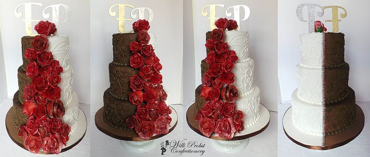 Brown And Red Wedding Cakes