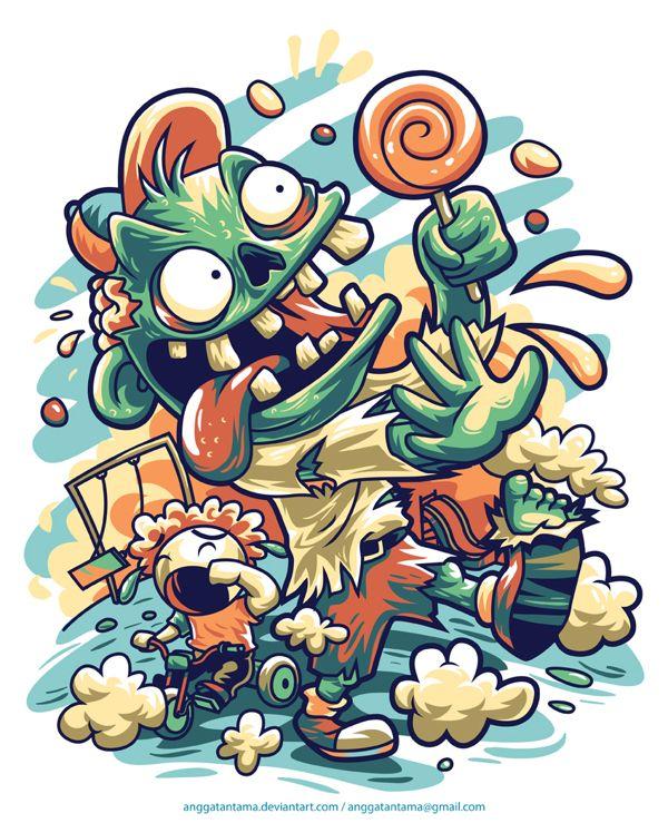 ilustrações vetoriais super coloridas de Angga Tantama