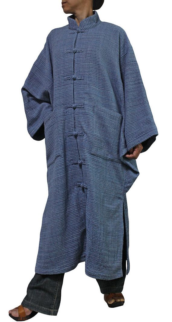 ChomThong Hand Woven Cotton With Thick Yarns Chinese Collar