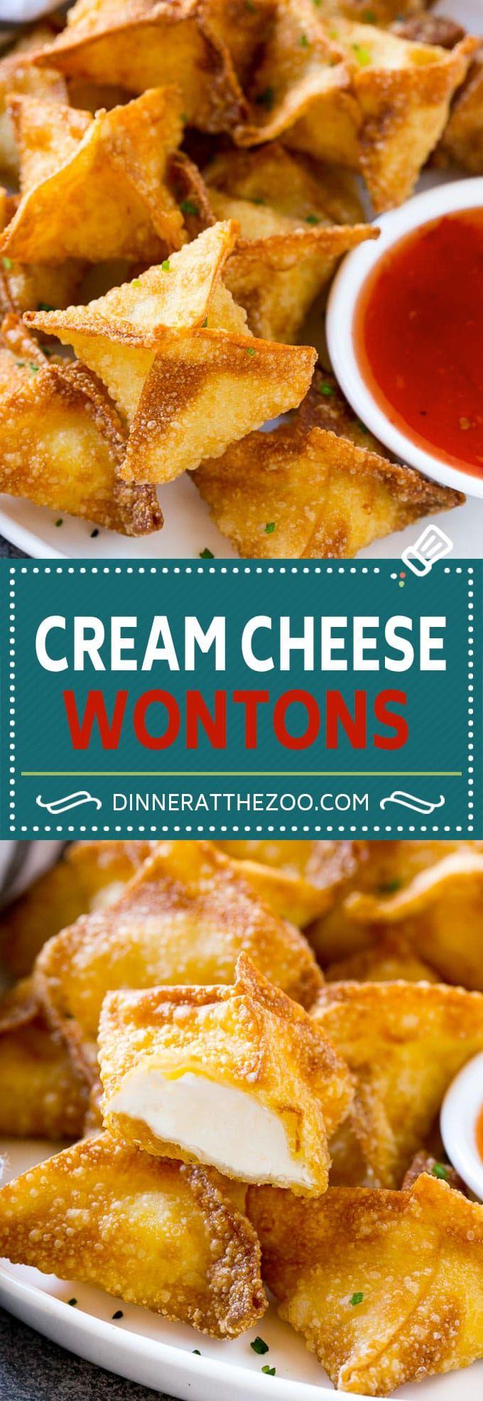 Cream Cheese Wontons Recipe | Cream Cheese Rangoon | Wonton Appetizer