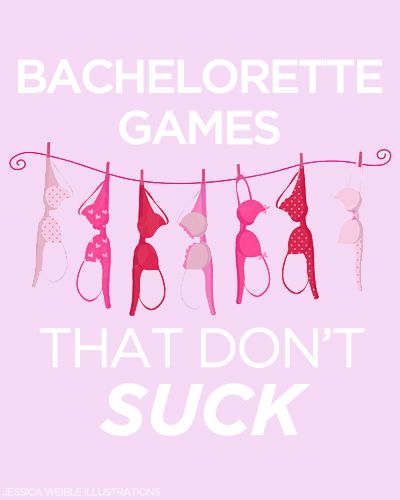 10 Bachelorette Games That Aren't Lame!    I'm assuming the gaggy gum/candy one isn't on here...I'd hate to have to do that one (5 pieces in, i'm pretty sure I'd puke! X_x)