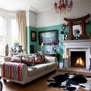 Victorian Living Room Eclectic