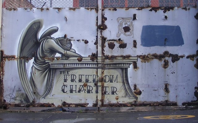 The Freedom Charter can be found in Woodstock's up and coming Albert Road.