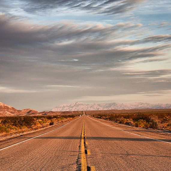 Route 66 Landscape Photography Road Trip Retro Inspired Home Decor  Vintage Themed Office Art