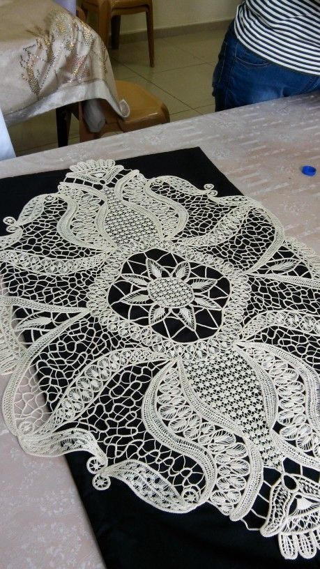 Macramé Crochet Lace (also known as Romanian Point Lace Crochet)