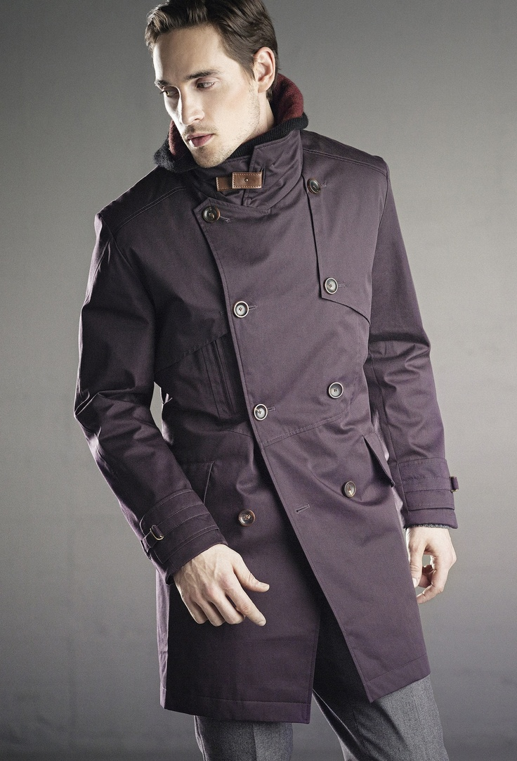 Poe double breasted coat, Joyce suit pant, Vonnegut hooded neck. In stores in August 2013.