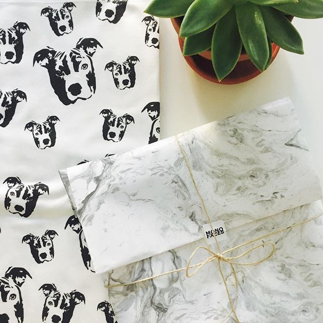 We're got one more Pitbull organic cotton baby swaddle blanket - perfect for newborn human sister or brother! Shop link in bio.    #monofaces