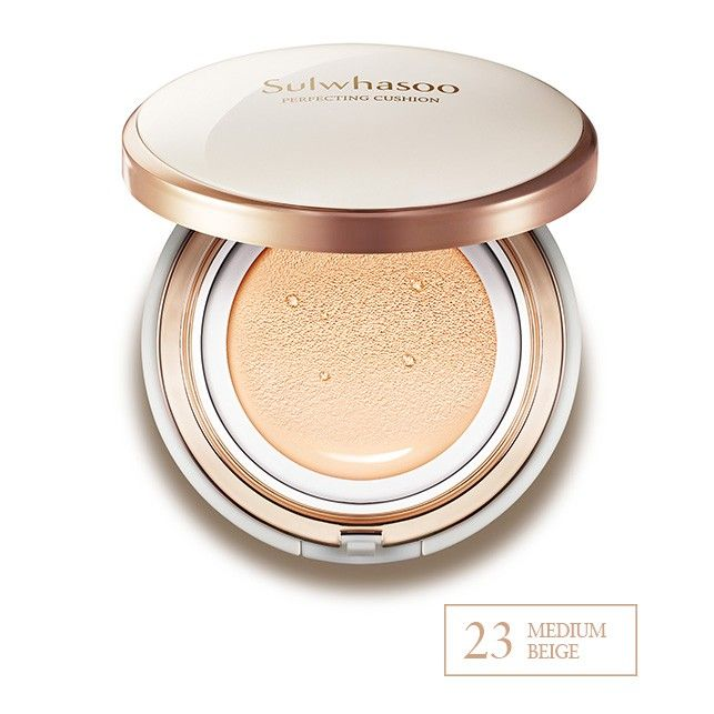 Sulhwasoo Evenfair Perfecting Cushion | No. 23 | A fresh, light-weight cushion foundation that delivers long-lasting coverage for a naturally flawless complexion. Each compact comes with a full size refill. | $60.00
