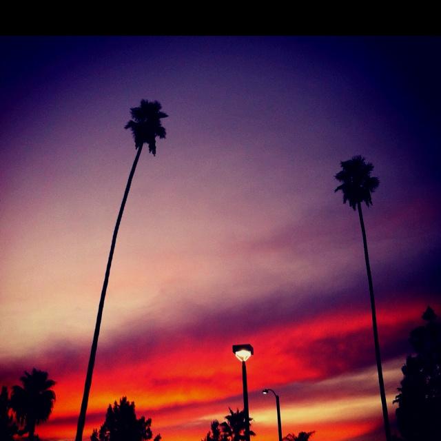 Sunset in Corona California