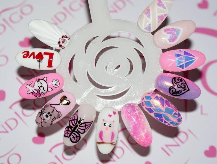 Walentynkowe inspiracje od Angeliki Wróbel z Indigo Young Team #nails #nail…