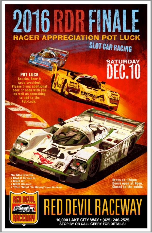 RC Slot Car Poster Print Racer Gift RC Racing Hobbyist Gifts RC Touring Car