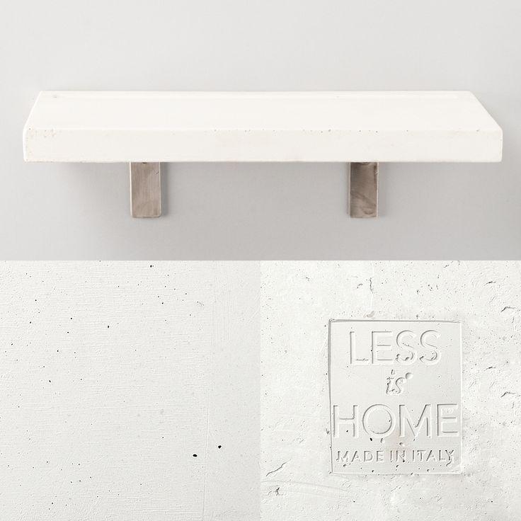 Vega - concrete shelf | white details by LESS is HOME