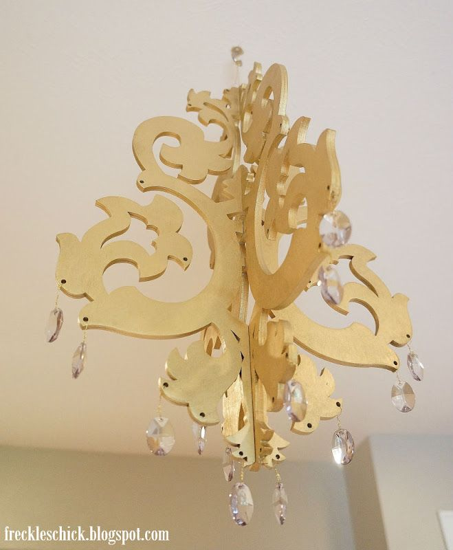 freckles chick: Whimsical wood chandelier