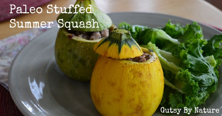Paleo Stuffed Summer Squash - Gutsy By Nature