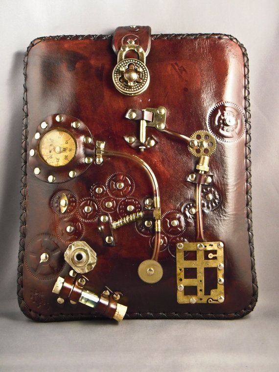 ɛïɜ Steampunk Leather Case III - Ipad - Netbook - Etsy Shop: IsilWorkshop ɛïɜ