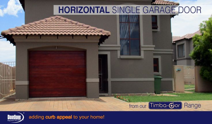 Horizontal Single Garage Door from our Timba-dor™  Range. Visit www.doorzonesa.com to view our full collection