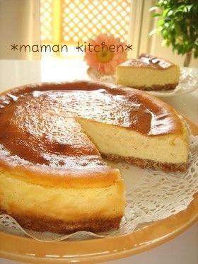 ミキサーで混ぜるだけの簡単チーズケーキ♪驚くほどしっとり濃厚♡ほっぺ落ちます^^ 09/6/21つくれぽ1000人達成♡