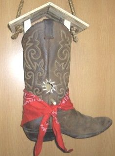 Image result for cowboy boot birdhouse instructions