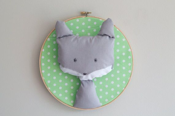 Cute Wolf Trophy Head Wall Art by GloriousBandits on Etsy, $40.00 (NZD). Perfect for the home, workspace or nursery.