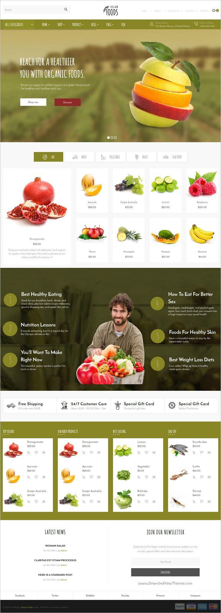 D health food store in l a - Vegan Food Organic Store Farm Responsive Woocommerce Wordpress Theme