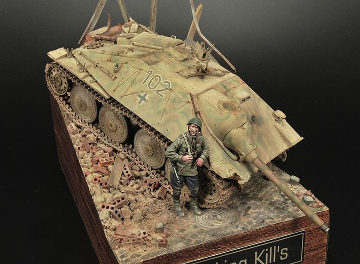 Scale: 1/35. Kit: Dragon and Alpine Miniatures. Comments: Some materials from Make Models, Evergreen, Plusmodel, etc. Location: Germany, 1945. Release Date: 2006.