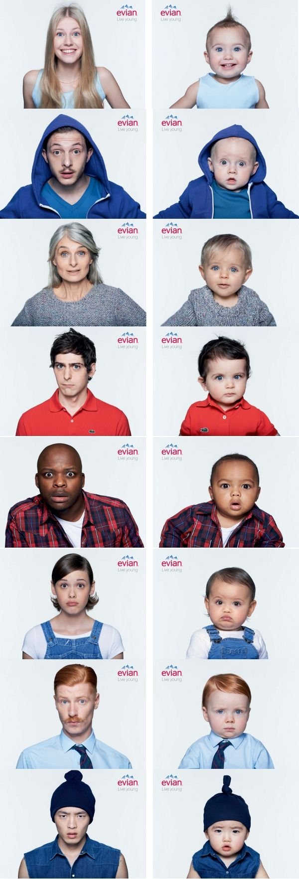 Campagne - Adulte - Enfant - Evian - Live young Love this it is done so well!