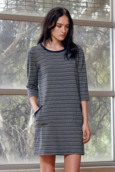 HANDSOM Indigo Stripe Dress