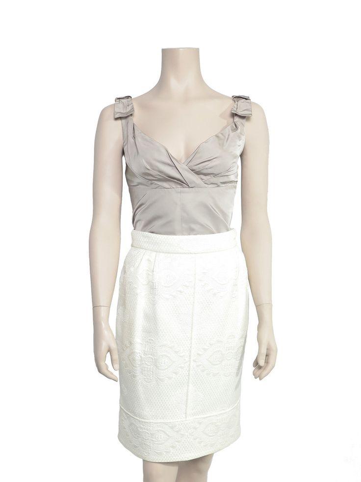 Louis Vuitton Embroidered Skirt www.sabrinascloset.com