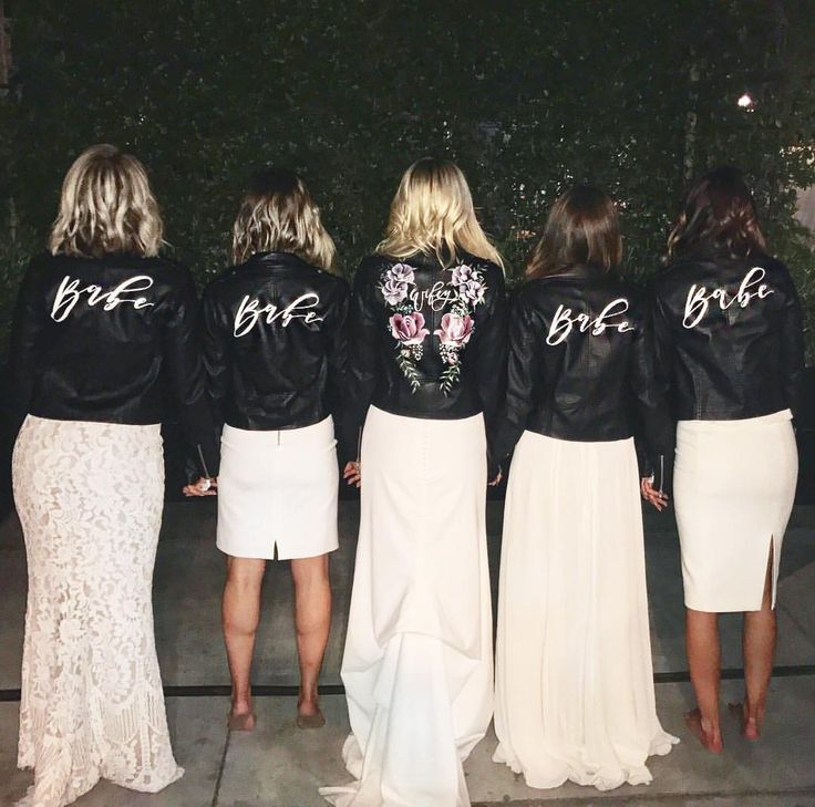 Bridal Party Leather Jackets | Leather Wedding Jacket | Painted Leather Jacket | By @bashcalligraphy