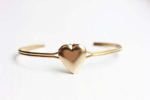 Heart Locket Bracelet by diamentdesigns on Etsy, $14.00