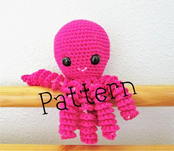 Octopus Crochet Pattern Octopus Toy by HcubedCrochetDesigns