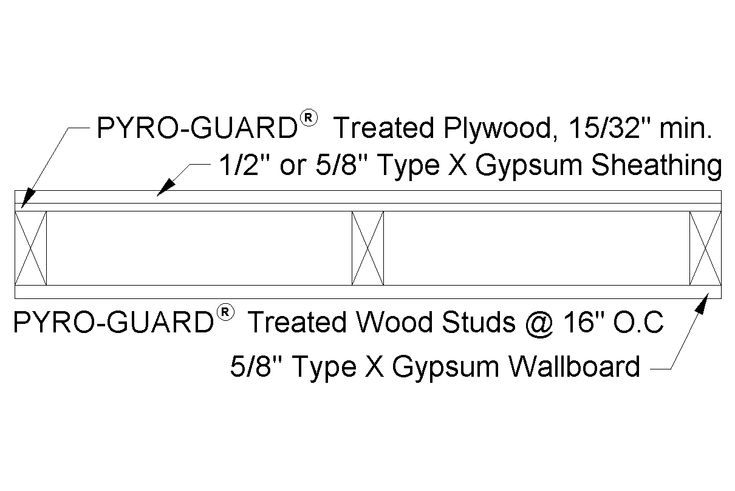 1 Hour Fire Rated Exterior Wall Detail Google Search