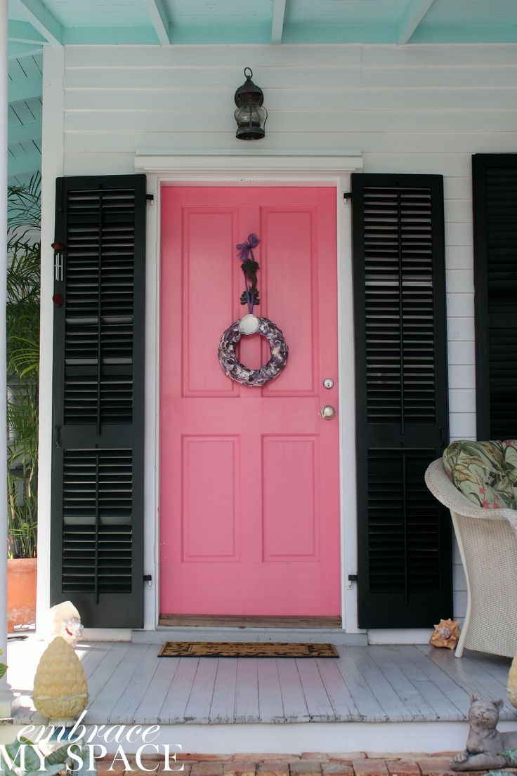 Embrace My Space: Key West Front Doors #pink #door
