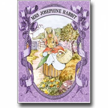 Peter Rabbit card series - Mrs Josephine Rabbit on Lish