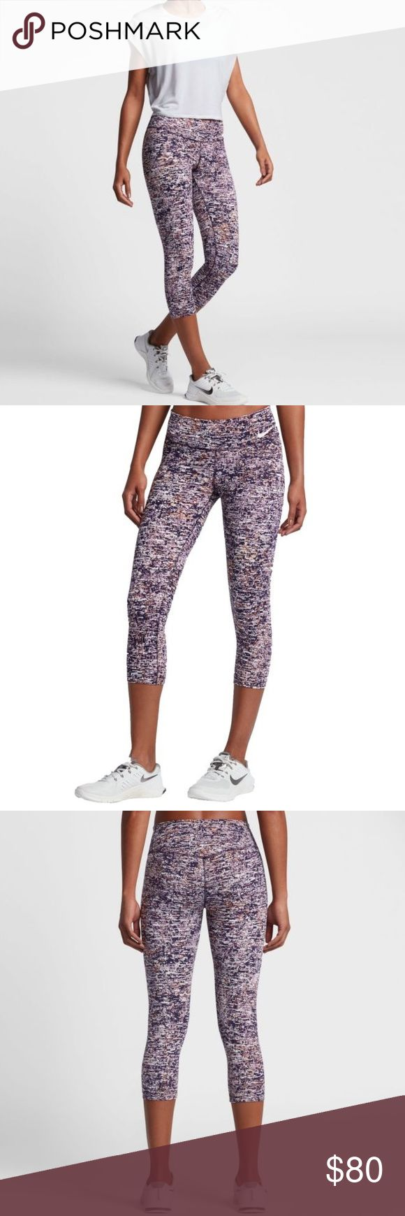 "NWT - NIKE Power Legendary Training Capris Authentic Women's NIKE Power Legendary Training Capris • color: Bleach Lilac/Purp Dynasty • Compression Capris • 19"" inseam • Form-fitting design with Nike® Power material effortlessly moves & stretches with your body for a slimming fit & amazing mobility • Mid-rise, elastic waistband provides slimming shape & locked-in support • Flatlock seams prevent irritation caused by chafing • Interior waistband pocket • BNWT Nike Pants Capris"