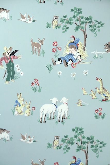 17 Best Images About Childrens Vintage Wallpaper On