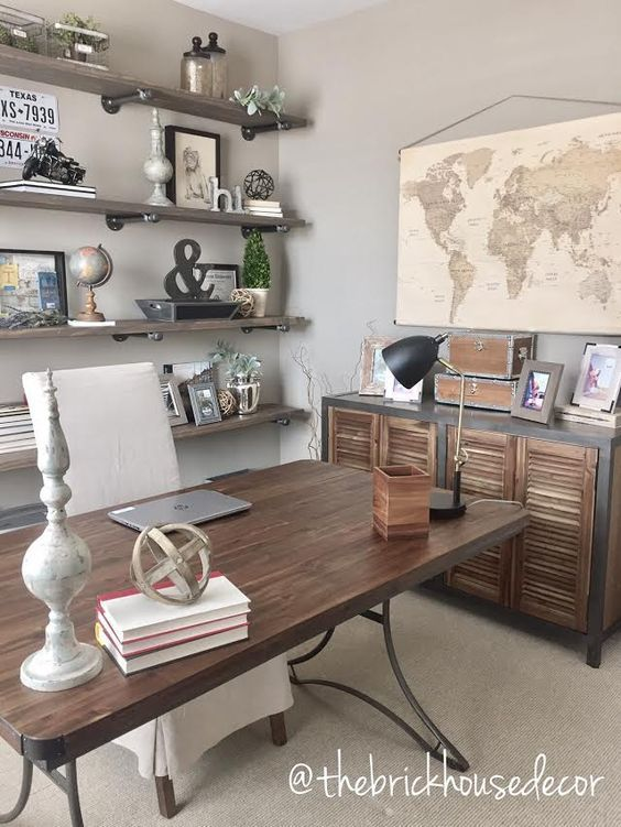 40 Home Office Decor Ideas To Inspire You #retrohomedecor Retro - Home Office Decor Ideas