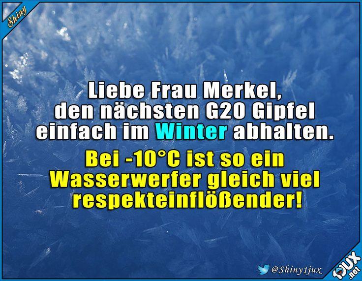 Tipp für das nächste Mal #G20 #G20Gipfel #AngelaMerkel #Merkel #G20HH #G20HAM2017