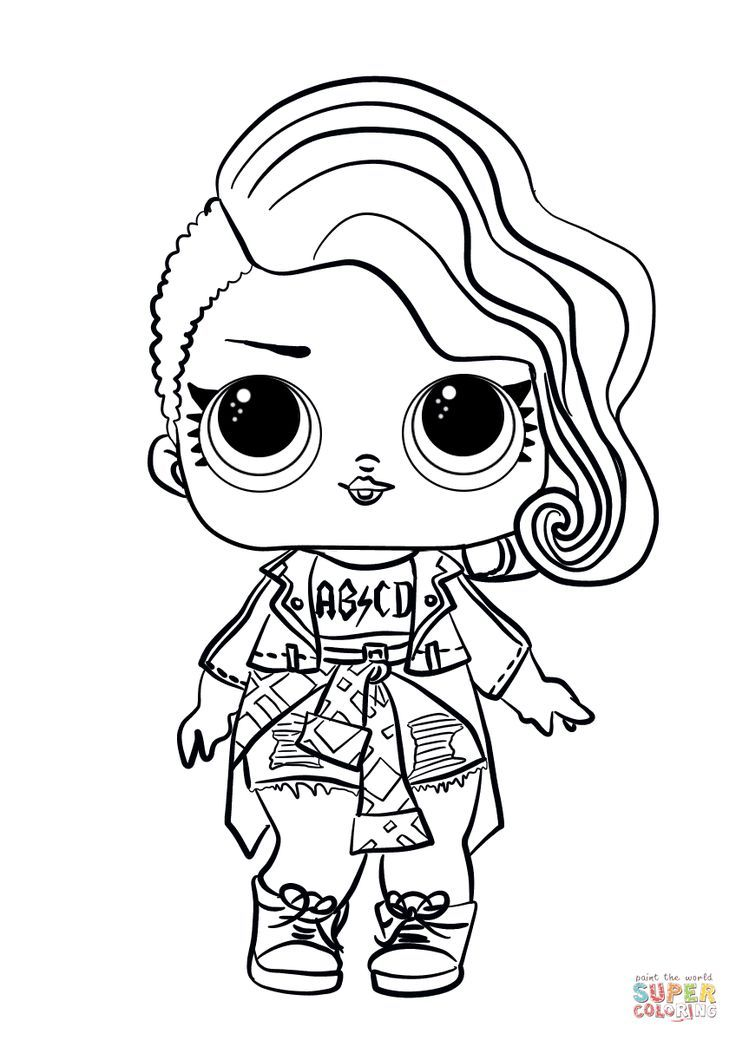 Lol Uberraschungspuppe Rocker Super Coloring Coloring Rocker Super Uberraschung Unicorn Coloring Pages Cute Coloring Pages Free Printable Coloring Pages
