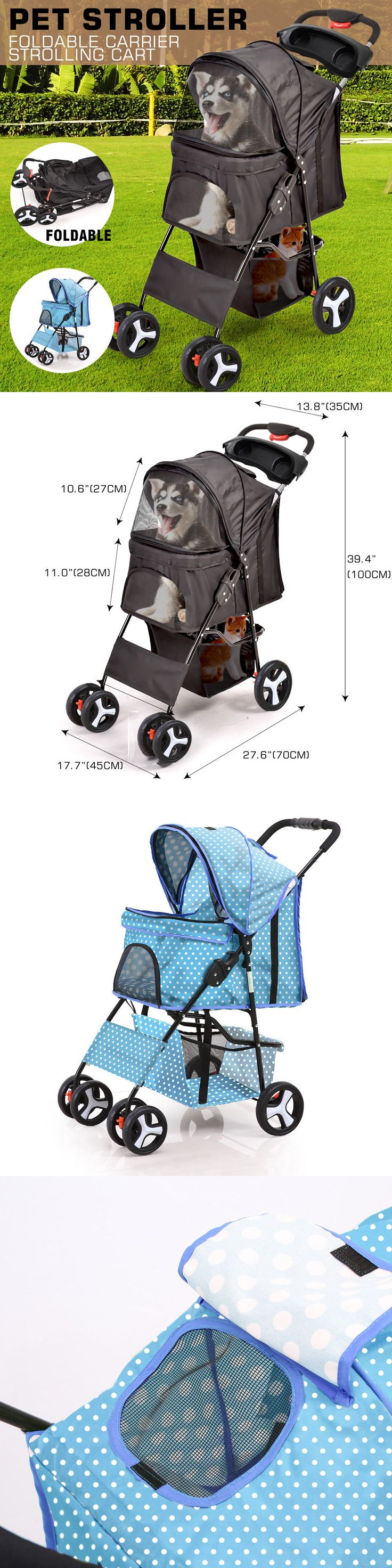 Strollers 116380: Pet Stroller Dog Cat Puppy Jogger Pushchair Travel Carrier Pram Buggy Wheels New -> BUY IT NOW ONLY: $37.95 on eBay!
