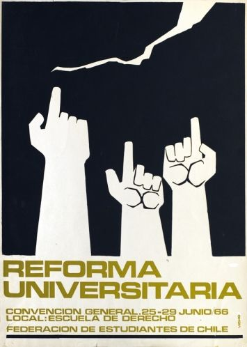 Federación de Estudiantes de Chile – Reforma Universitaria. Chile, 1966.