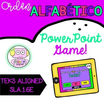 Orden Alfabetico Learn how how to alphabetize to the second letter with this fun and engaging PowerPoint game that will teach your students how to use the alphabet to help them find the correct sequence of words. This game is very easy to use and is 100% paperless! Use your