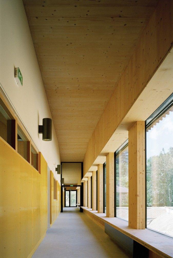 School complex in Rillieux-la-Pape / Tectoniques Architects, CLT, Hallway…